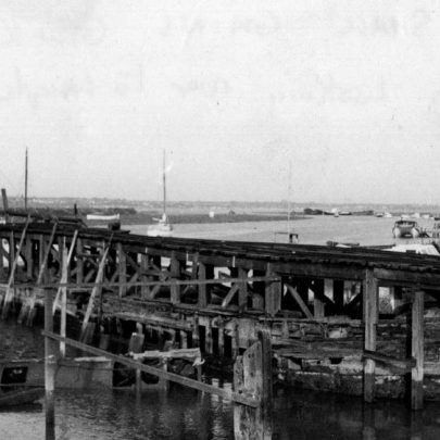 7 Smallgains Creek looking towards Leigh with Lawrence's jetty. | Marian Patten