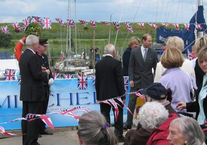 Prince Edward's visit to Smallgains Marina