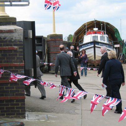 Prince Edward's visit to Smallgains Marina