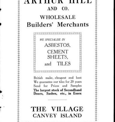A builder's merchant's advert | Swanson collection