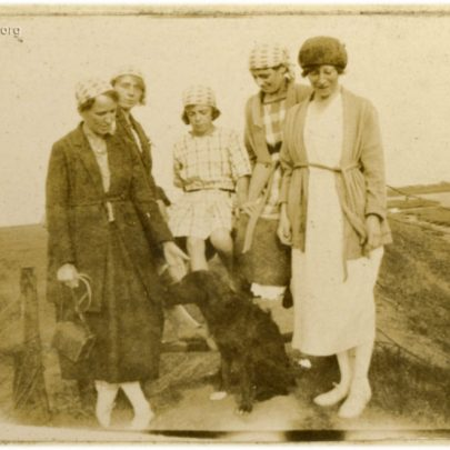 1922: The Stuckey family walk the dog along Canvey Sea Wall | David Bullock
