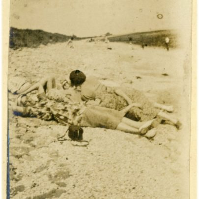 1922: The Stuckey's relaxing on a sandy Canvey Beach | David Bullock
