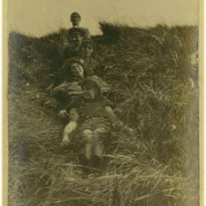 1922: Stuckey girls sliding down Canvey Sea Wall | David Bullock