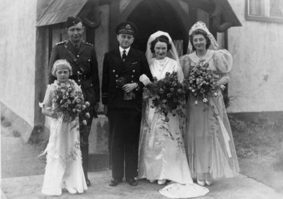 Marriage of Alleyne Evans and Millicent Mellor