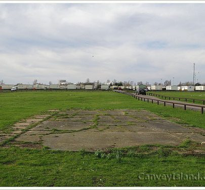 Feb 2008: Foundations of Army Camp Buildings - Even this has recently been dug up | (c) David Bullock