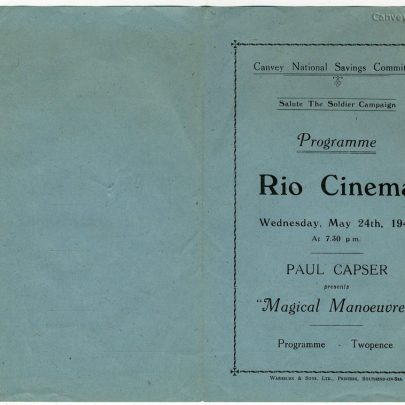 Salute the Soldeir Campaign - May 24th 1944 - Paul Capser at the Rio Cinema - Part 1 | Thanks to Joan Liddiard
