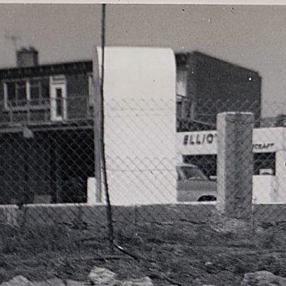 1960 New buidings completed opposite petrol station alongside Elliot's