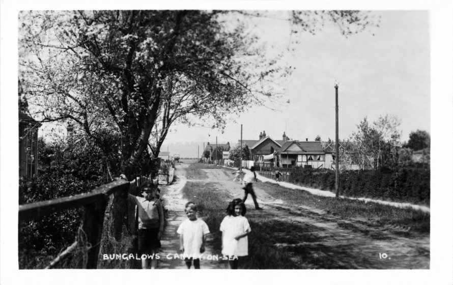 Children and bungalows