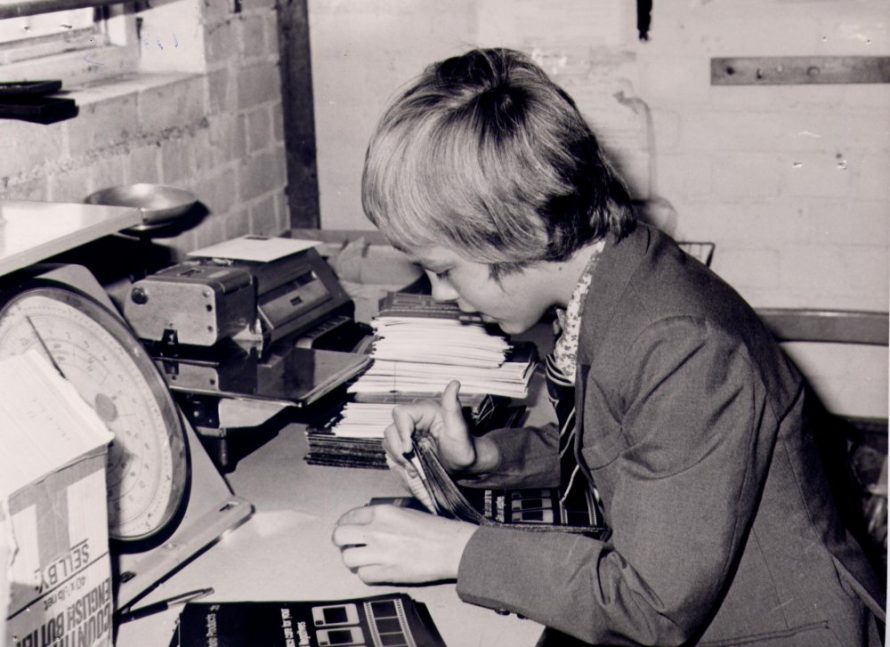 This is Terry Richards taken in 1978 while doing his work experience