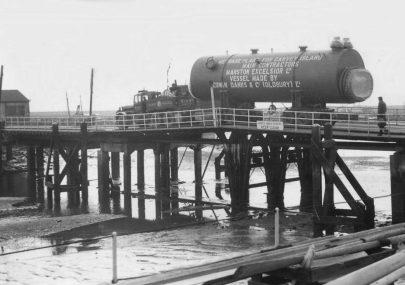 Tanker Crossing the Old Bridge