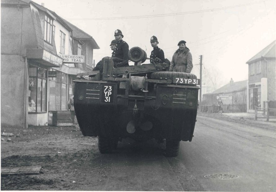 Police officers on a DUKW Amphibian | Courtesy of the Essex Police Museum