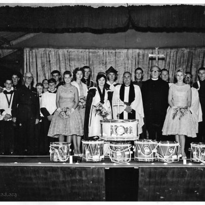 The Drumhead Service at the War Memorial Hall 24.7.1960 | Pauline Hayford nee Woodcock