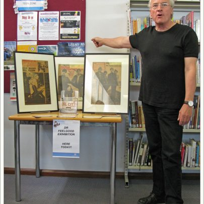 Canvey Library - Dr Feelgood Display with 'The Big Figure' | Dave Bullock