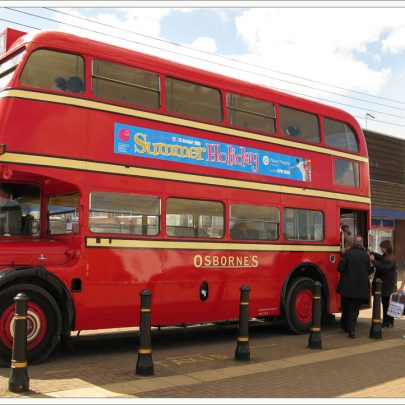 Castle Point Transport Museum Buses outside the Library | Dave Bullock