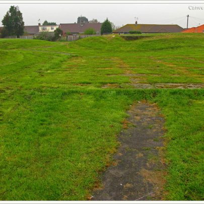 A path leading to the concrete remains | (c) David Bullock