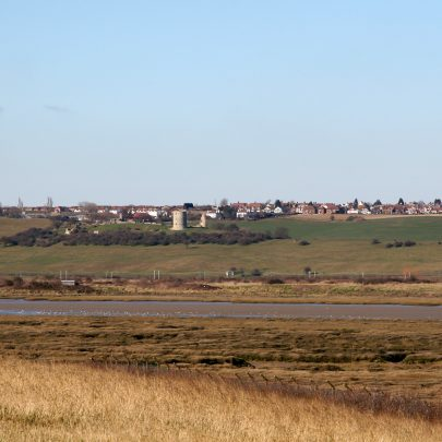 Hadleigh Castle from Canvey Heights   carol McCracken