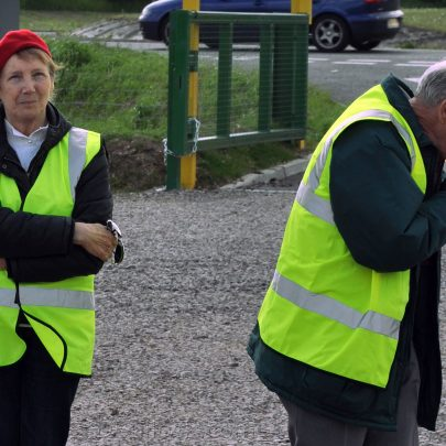 Our Bus crew from the Castle Point Transport Museum (Marian Patten right) | (c) Dave Bullock