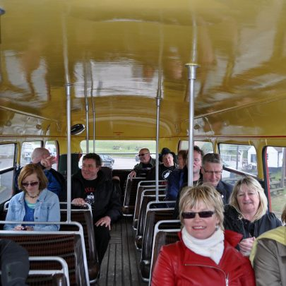 On the top deck on the way to Canvey Heights | (c) Dave Bullock