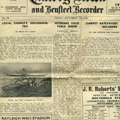 Canvey News September 17th 1948 | Ian