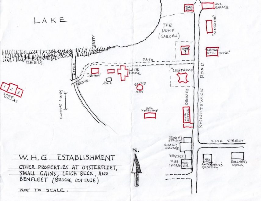 Map drawn by Alan Gregson | Leonie Gregson