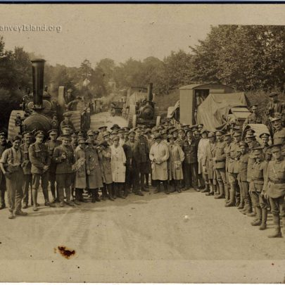 World War 1 Post Card - Location Unknown. I believe Paul Capser can be seen forth from the right. Can you add any details about this photograph? | Thanks to Joan Liddiard