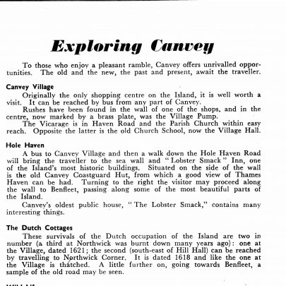 An extract from Captivating Canvey | Swanson collection