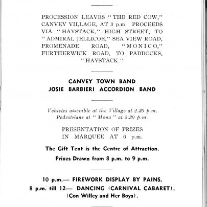 Canvey Carnival program | Swanson Collection