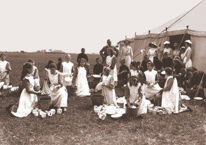 Camping on Canvey early 1900s