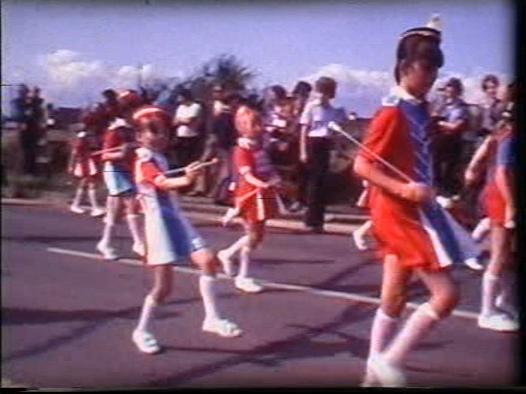 Majorettes in the Canvey Carnival 1980