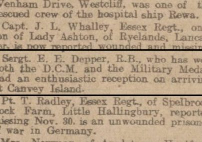 Ernest Edward Depper DCM, MM.