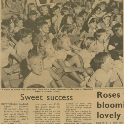 Newspaper Clipping celebrating the Capser Punch & Judy show, I believe in Dec 1969   Dave Bullock