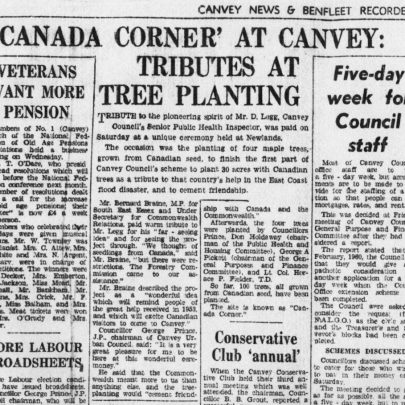 Canvey News and Benfleet Recorder 6 April 1962