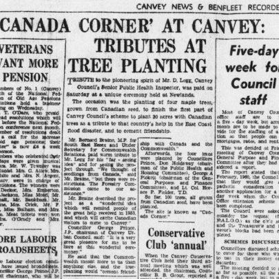 Canvey News and Benfleet Recorder 6 April 1962