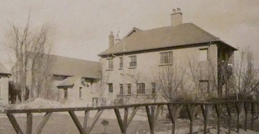 Chapel can be seen on the left attached to the side of the Convent | Courtesy of Douai Abbey Library and Archives