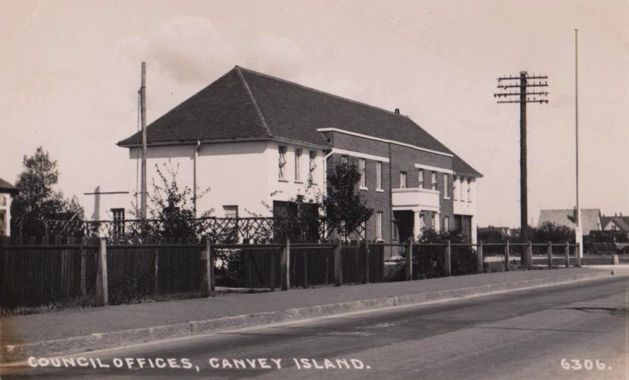 Two Padgett Postcards Canvey Council Offices