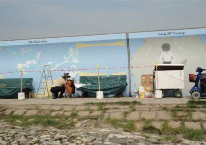 Flood Mural on Seawall