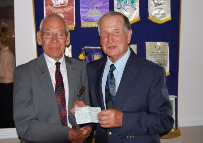 Canvey Rotary presenting