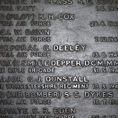Ernest Depper's Name | The War Graves Photographic Project