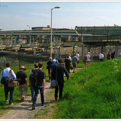 We walk along past Canvey's Methane Terminal   (c) David Bullock