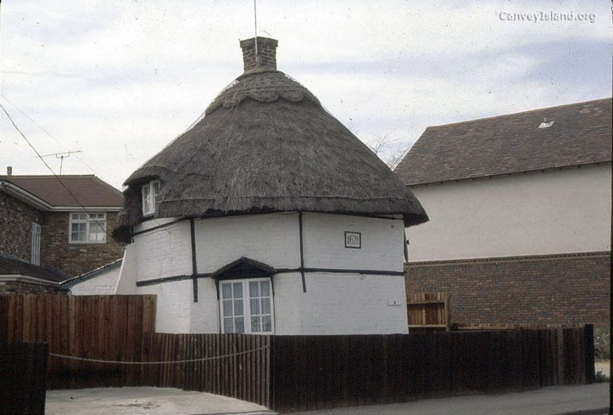 c1980: The 1621 Haven Road Dutch Cottage looking recently refurbished with little vegitation around it. This Cottage is privately owned and occupied to this day. | (c) David Bullock