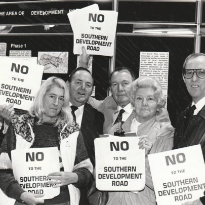 1990s demo to stop the Southern Developement Road | Echo Newspaper Group