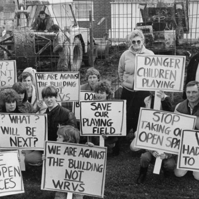 1980s demo to stop them building the WRVS hall on playing fields | Ech Newspaper Group