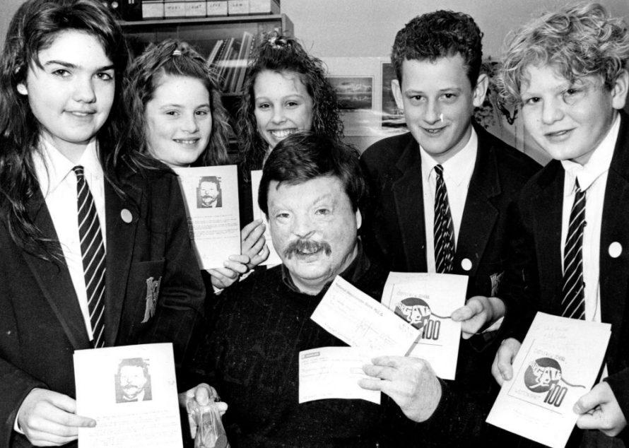Dated 1990. Raising money forSimon's Charity Weston Spirit | Echo Newspaper Archive