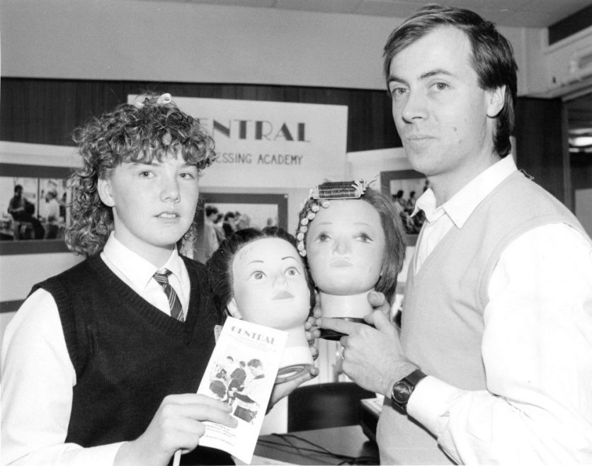 l-r Louise Badger with Martin Kolton of the Cebtral Hairdressing Academy Southend | Echo Newspaper Archive