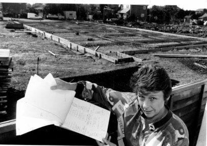 Petition against Oysterfleet development in 1994.
