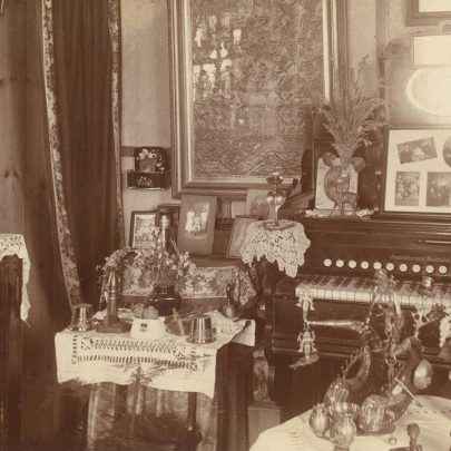 c1930. Inside the bungalow 'Dilkusha' | Published with Ken McDonald's Permission