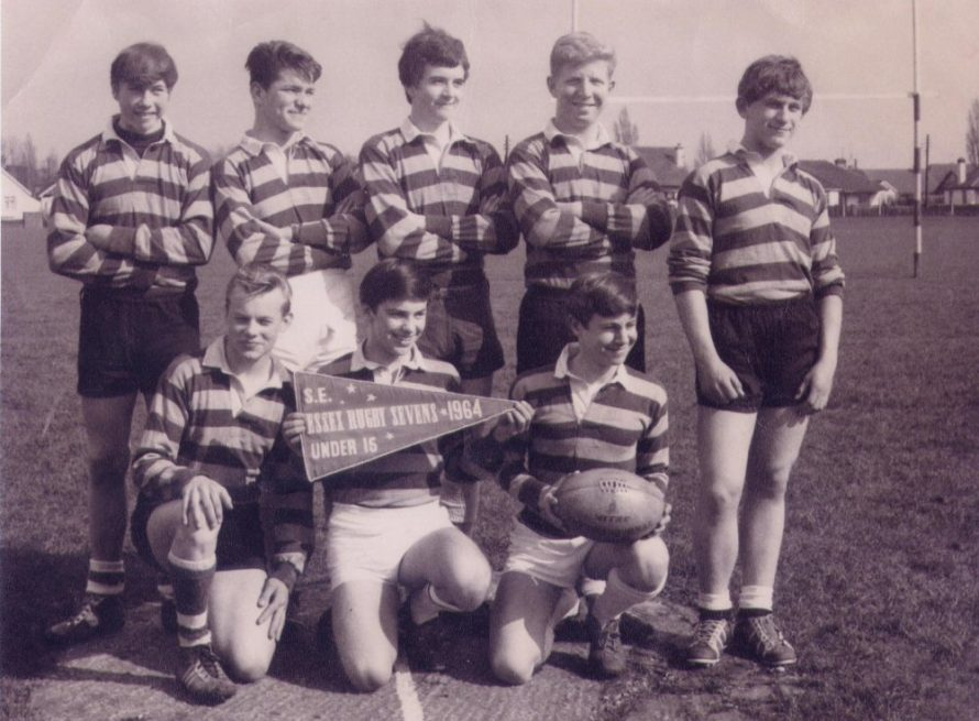 Back row: Paul Hurd, Terry Tayner, Robert Reed, Peter Luker, Graham Slater. Front row: Dennis Sparkes, David Denmark and Neil Brooks