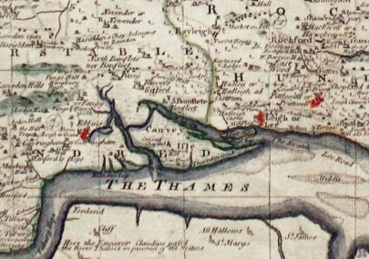Map of Canvey 1780