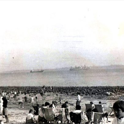 Ships on the Estuary 1940's | (c) Tricia Booth