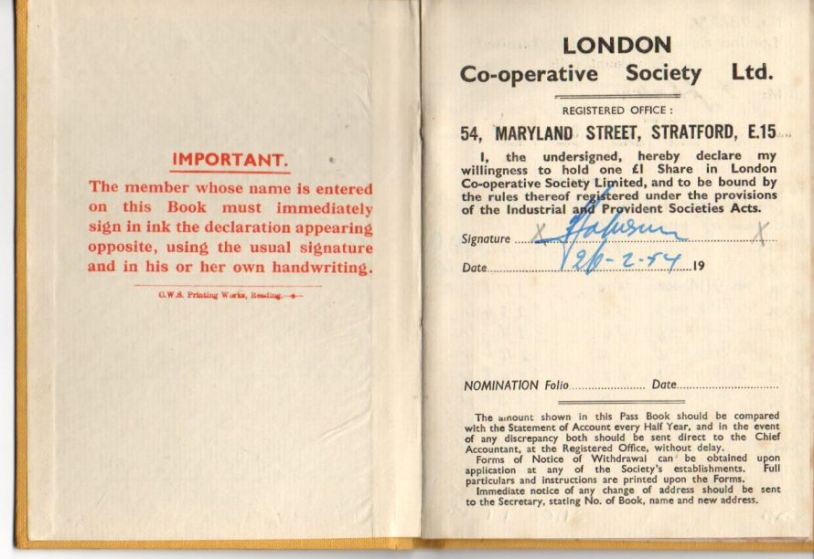 London Co-operative Society | Courtesy of Margaret May